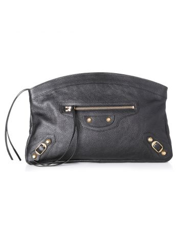 Balenciaga Black Giant Clutch