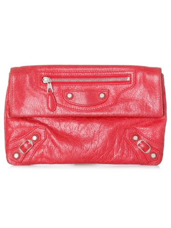 Balenciaga Red Giant 12 Envelope Clutch