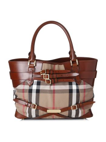 Burberry Bridle Lynher House check Tote Bag