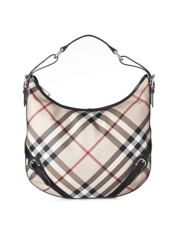 Burberry Classic Nova Check Hobo Bag