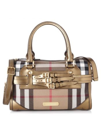 Burberry House Check Bridle Bowling Bag
