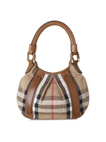 Burberry House Check Hobo Bag
