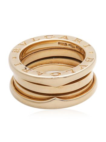 Bvlgari 18K Yellow Gold 3 Band Ring 47