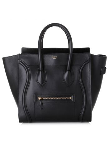 Celine Black Mini Luggage Bag