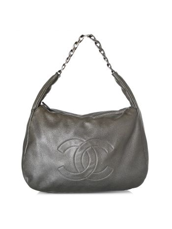 Chanel Black CC Hobo Bag