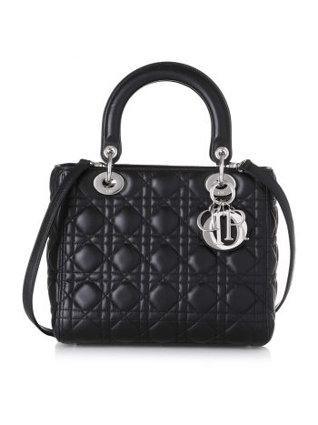 Christian Dior Black Lady Dior Medium
