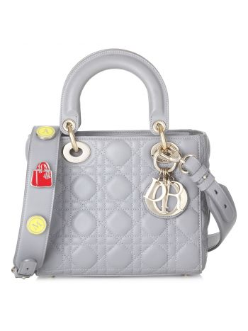 Christian Dior Gray Lady Dior Bag