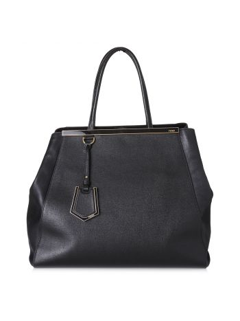 Fendi Black 2jours Satchel Large Bag