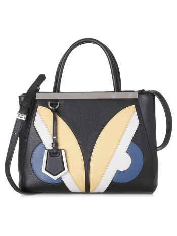 Fendi Multicolor Monster Eyes Petite Sac 2jours Elite Tote Bag