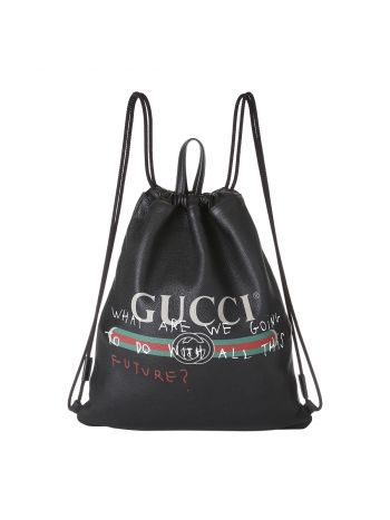 Gucci Multicolor Drawstring Backpack Bag