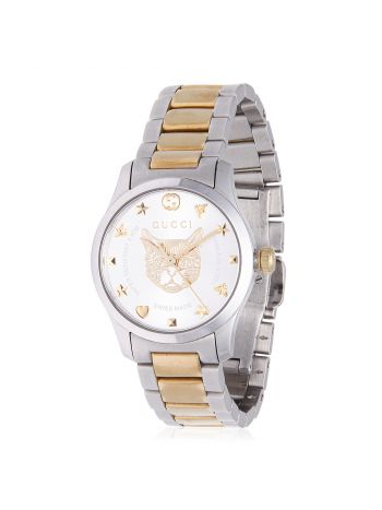 Gucci G Timeless Two Tone Bracelet Watch