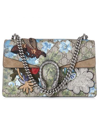 Gucci Multicolor GG Supreme Blooms Embroidered Dionysus Bag