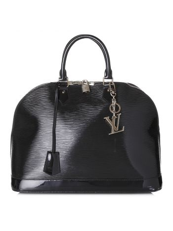 Louis Vuitton Noir Alma GM with Bag Charm