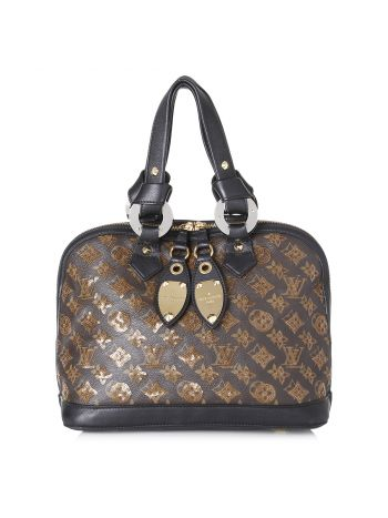 Louis Vuitton Brown Limited Edition Monogram Eclipse Alma Bag