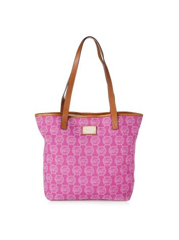 Michael Kors Fuschia Malibu Signature Logo Bag