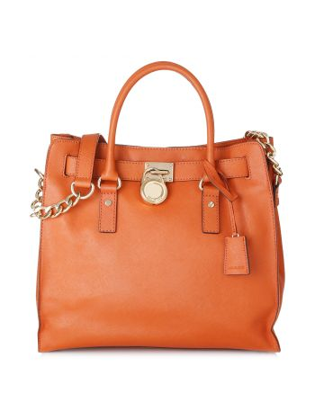 Michael Kors Orange Hamilton Satchel Bag