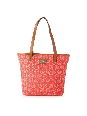 Michael Kors Orange Malibu Signature Logo Bag