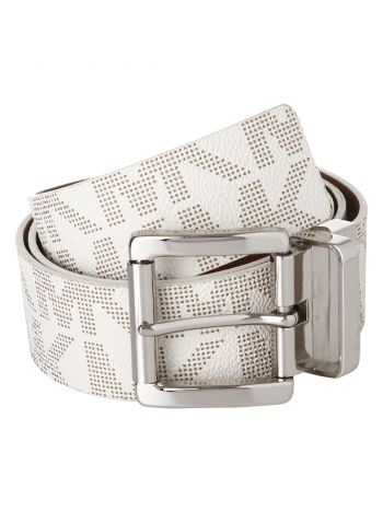 Michael Kors Silver Logo Reversible Belt
