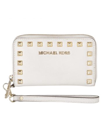 Michael Kors White Studded Wallet