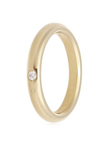 Tiffany & Co 18K Yellow Gold Elsa Peretti Diamond Band Ring 5.5