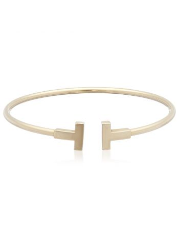 Tiffany & Co 18k Gold T Wire Medium Bracelet