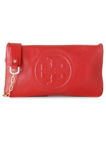 Tory Burch Red Reva Clutch