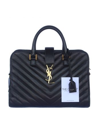 YSL Black Monogram Small Cabas Bag