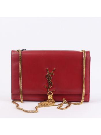 YSL Red Kate Tassel Satchel Bag