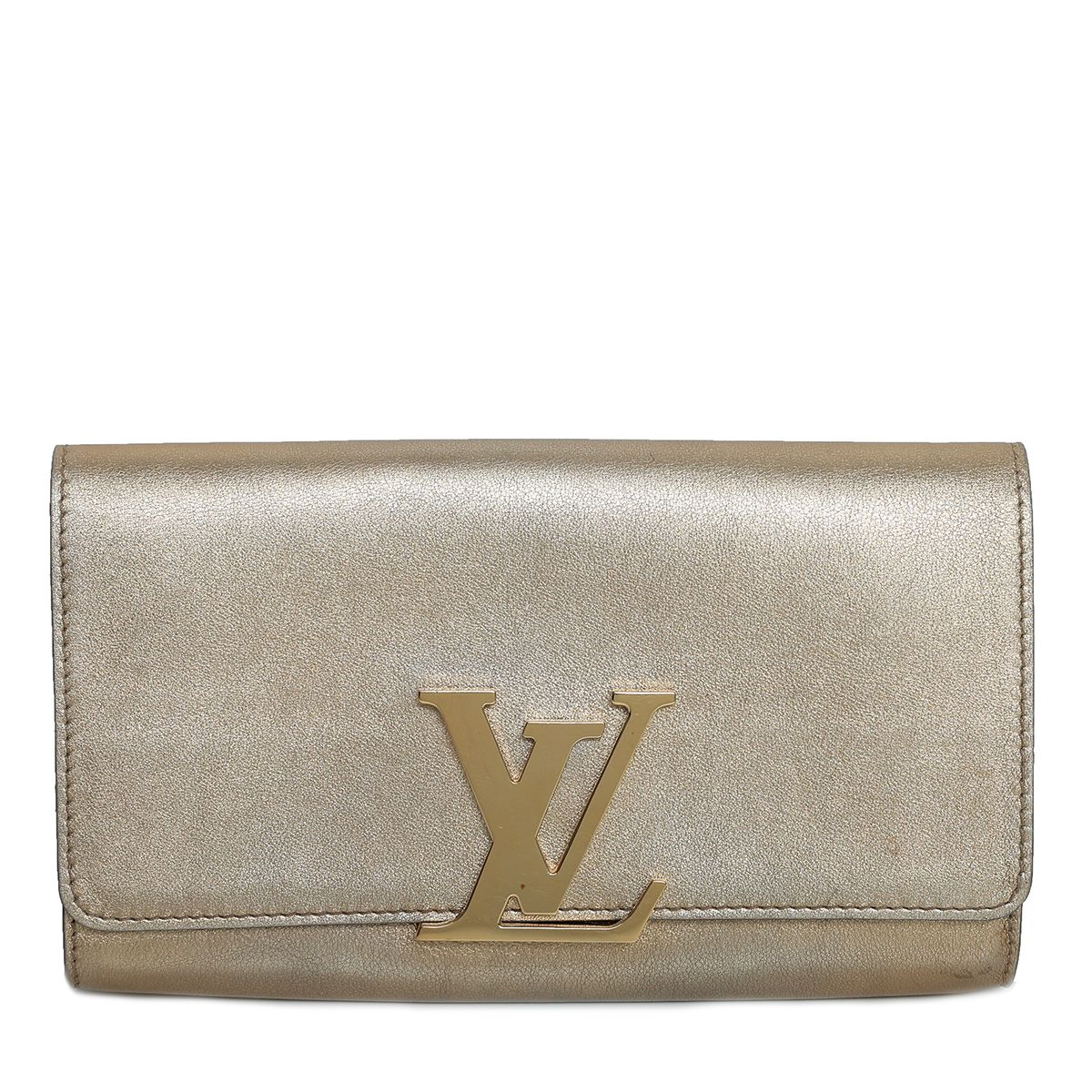 Louis Vuitton Metallic Gold Louise Clutch