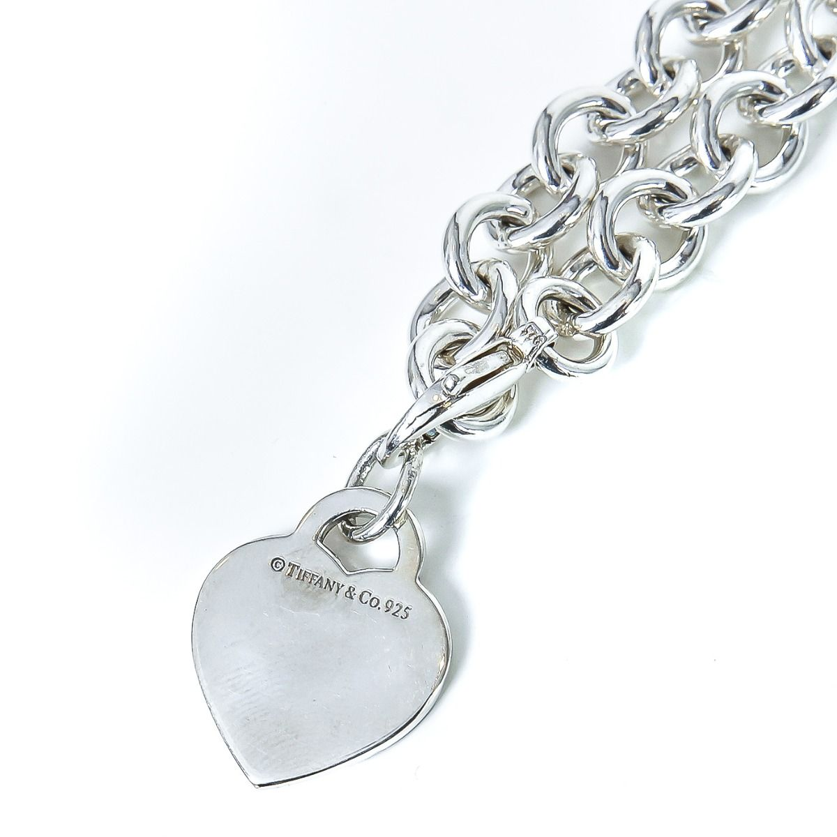 Tiffany Co Silver Heart Tag Necklace