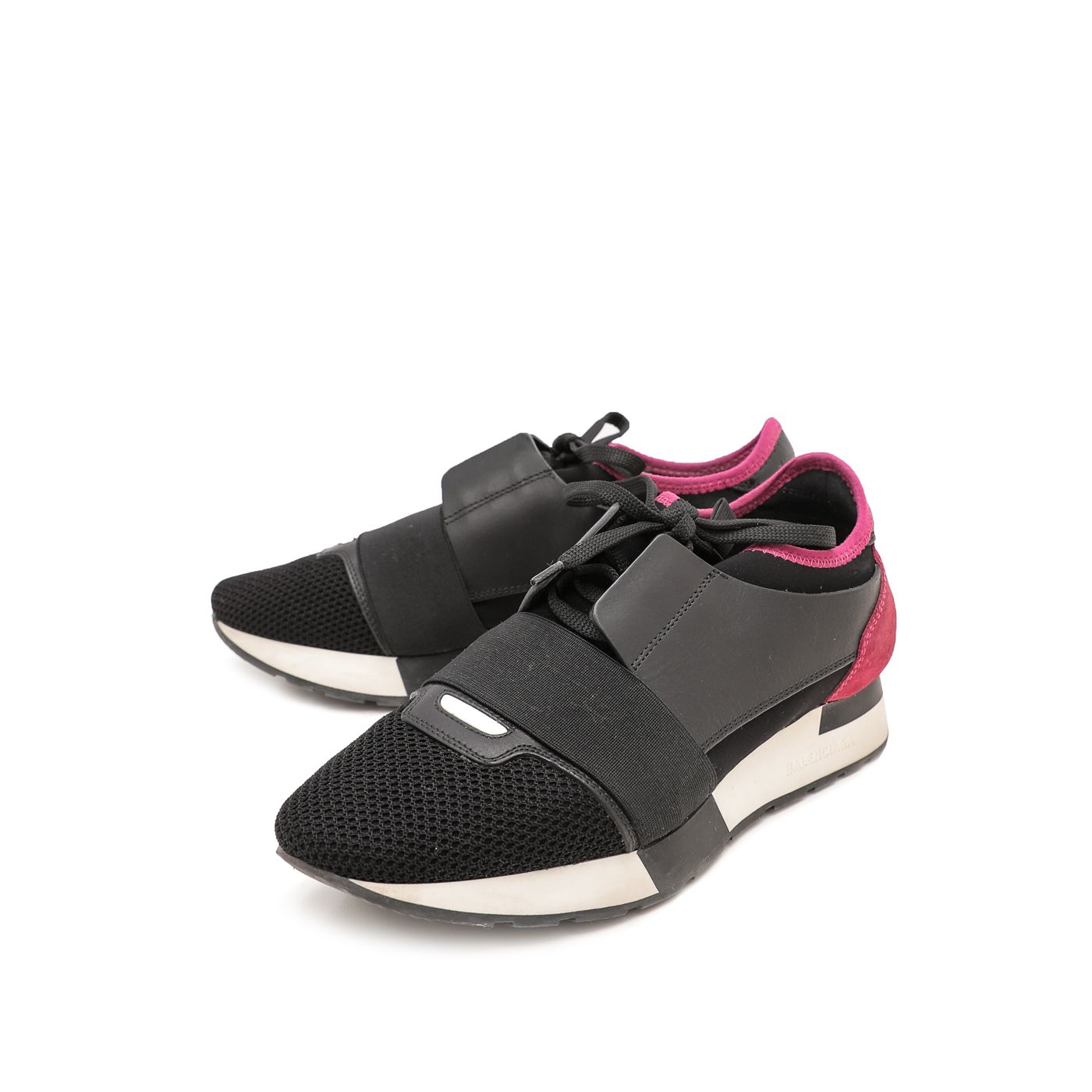 Balenciaga Bicolor Race Runner Sneakers 38