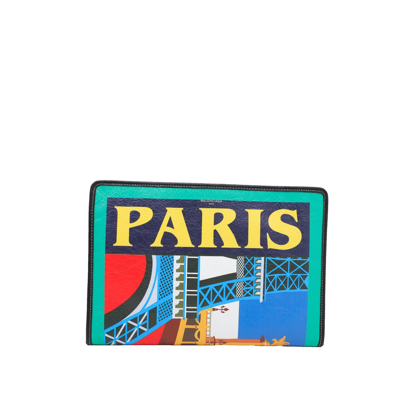 Balenciaga Multicolor Bazar Paris City Arena Clutch