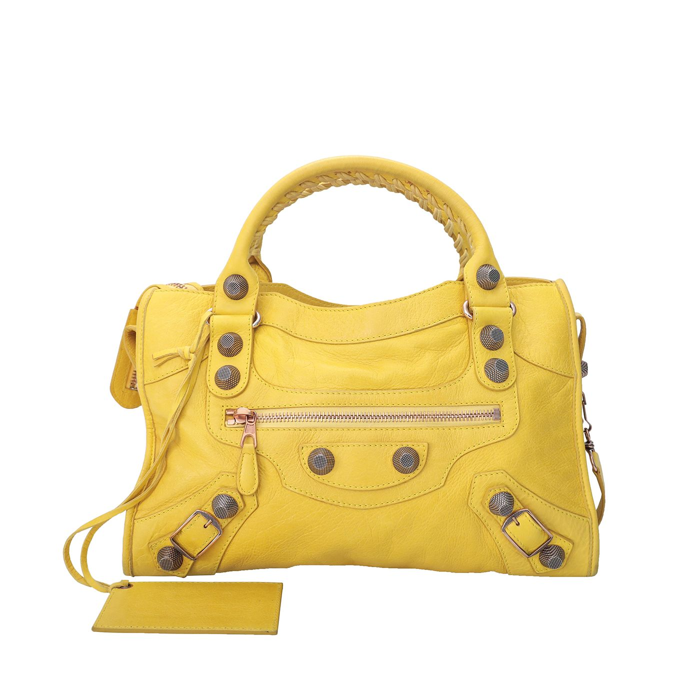 Balenciaga Yellow Giant Motorcycle City Bag