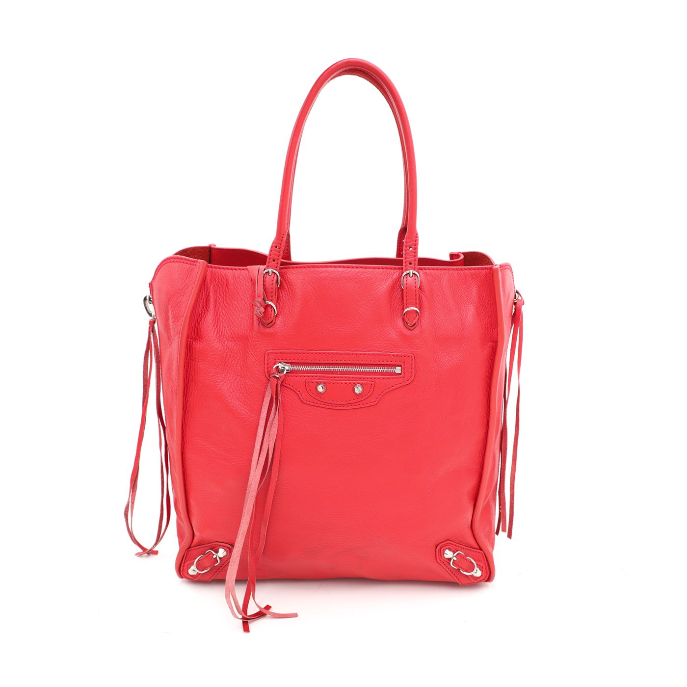 Balenciaga Poppy Papier A5 Zip Around Tote Bag