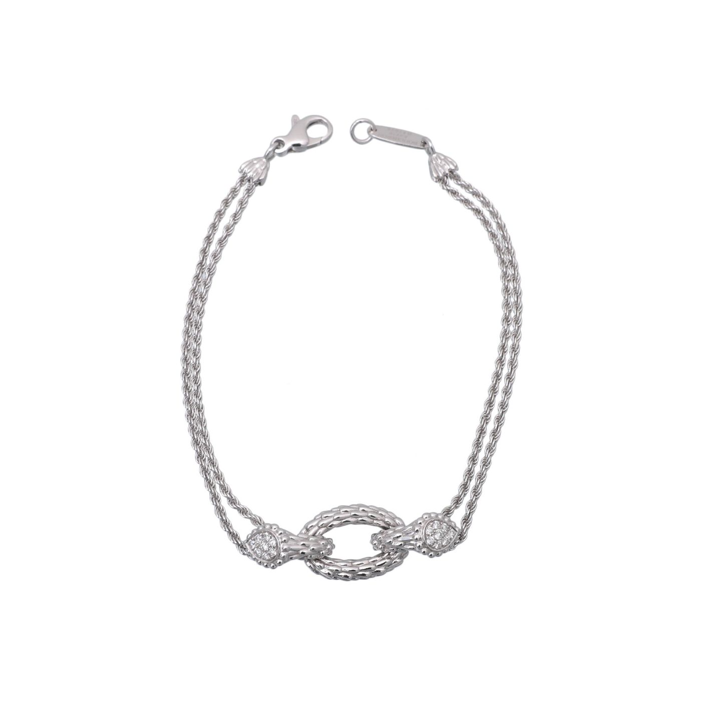 Boucheron 18K White Gold Diamond Serpent Boheme Bracelet