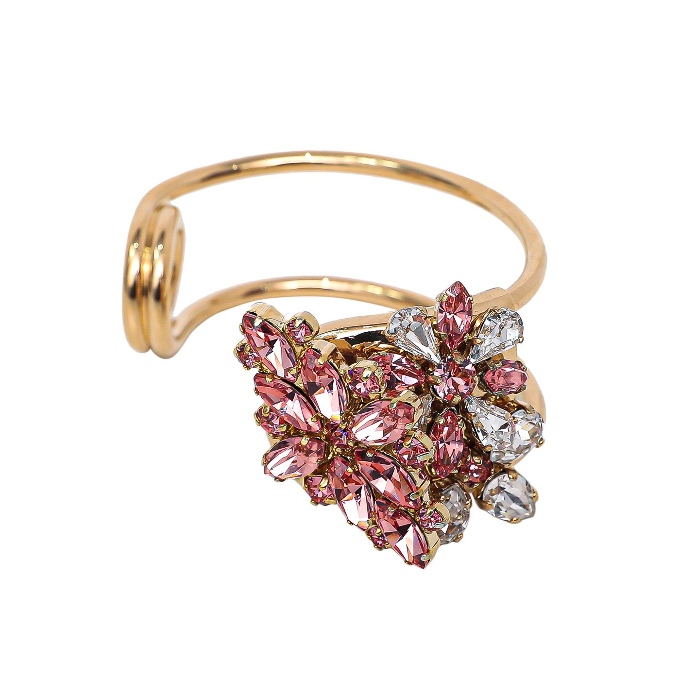 Burberry Pink Daisy Crystal Open Cuff Bracelet