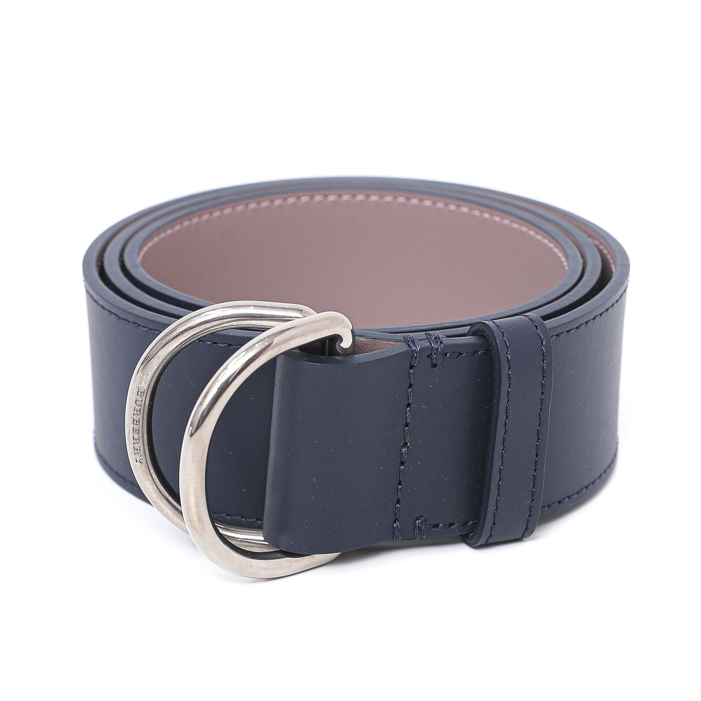 Burberry Bicolor Double D Ring Buckle Belt