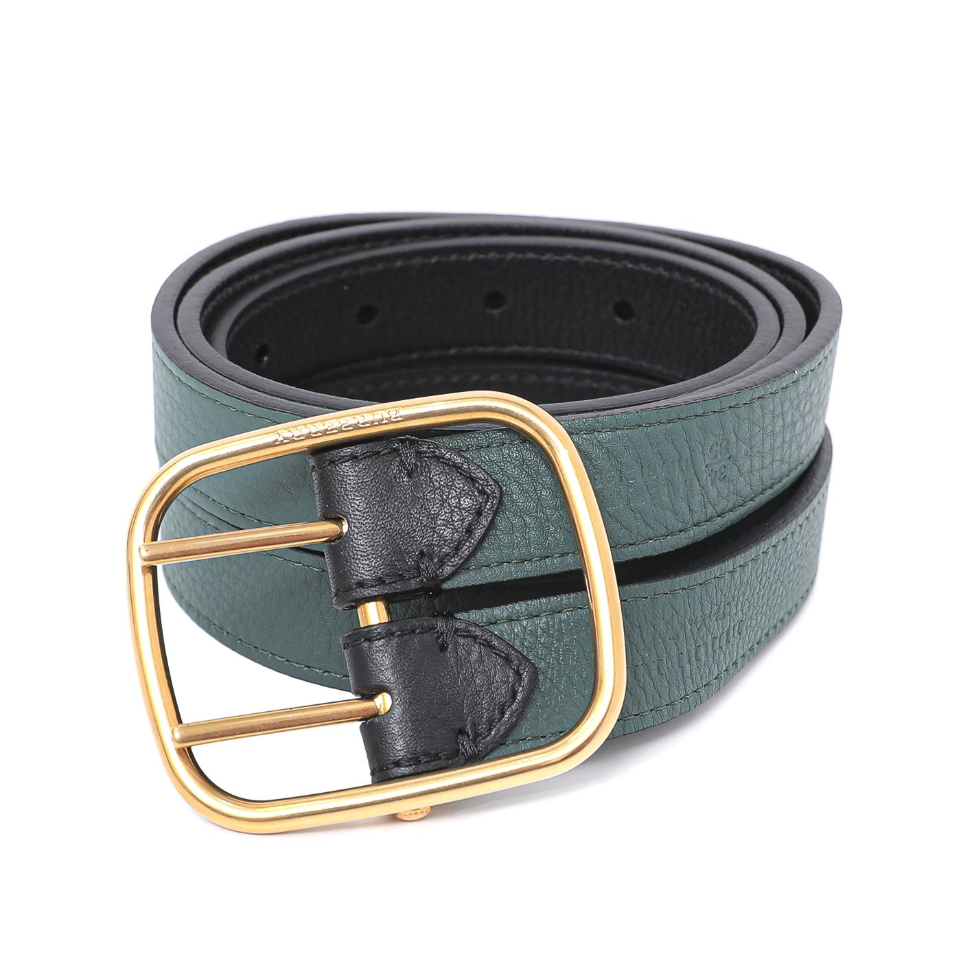 Burberry Bicolor Lynton Double Strap Belt 34