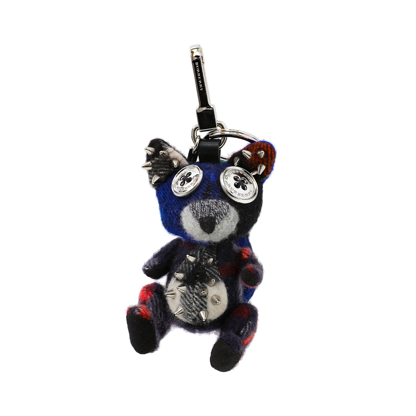 Burberry Navy Blue Dave The Fox Cashmere Embellished Bag Charm