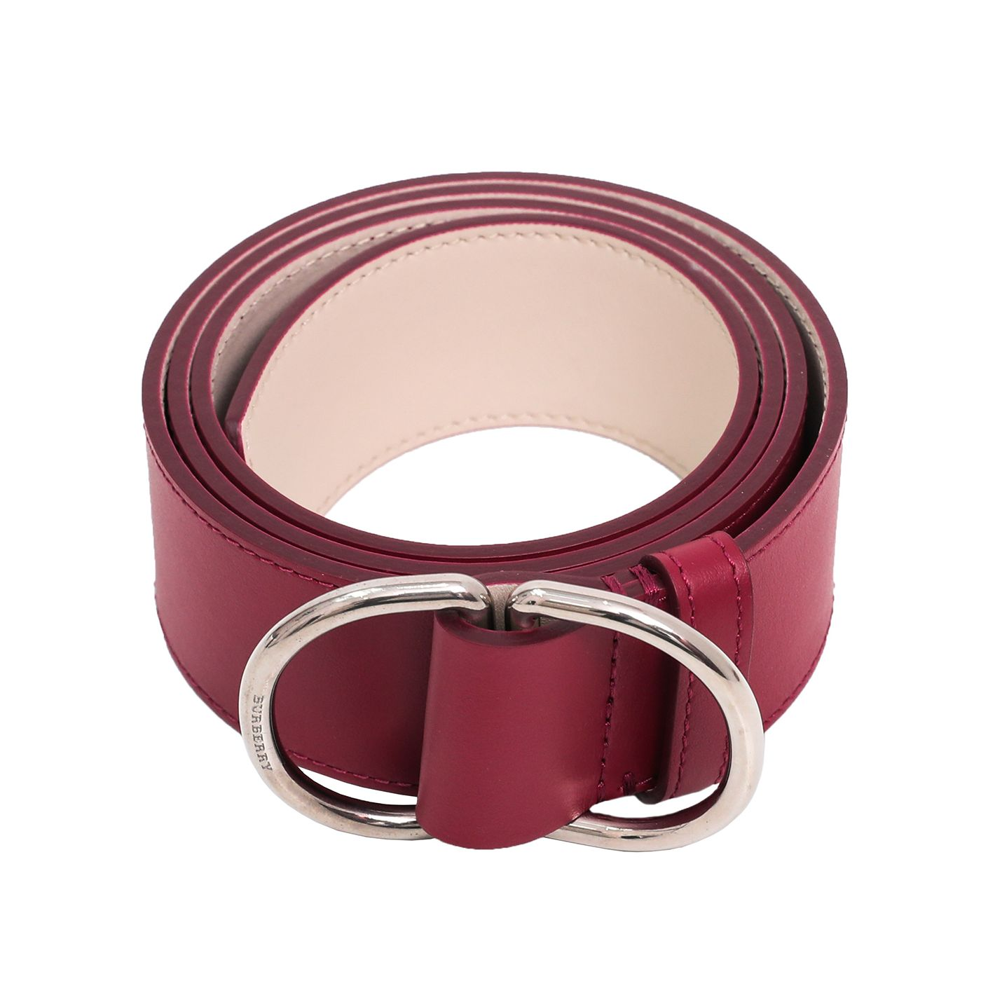 Burberry Bicolor Double D Ring Buckle Belt Medium