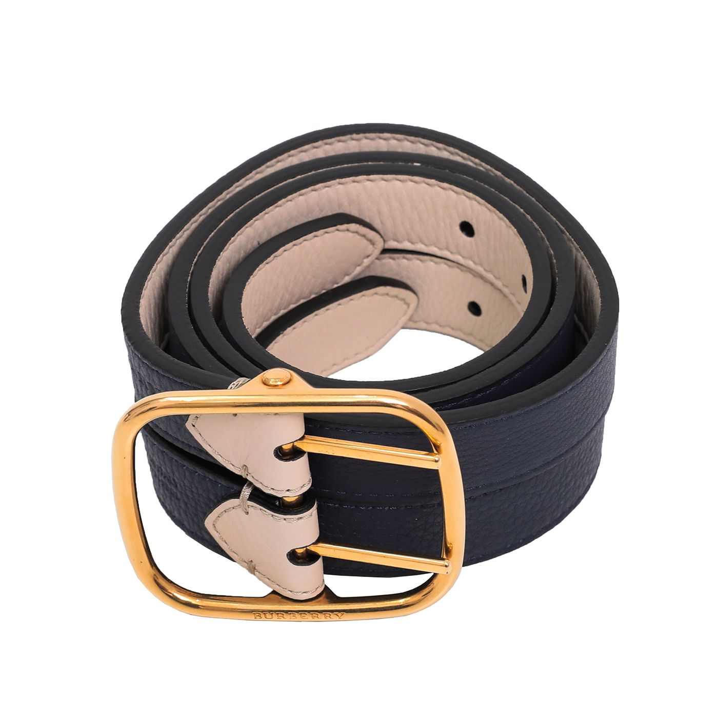 Burberry Bicolor Double Strap Lynton Belt 32