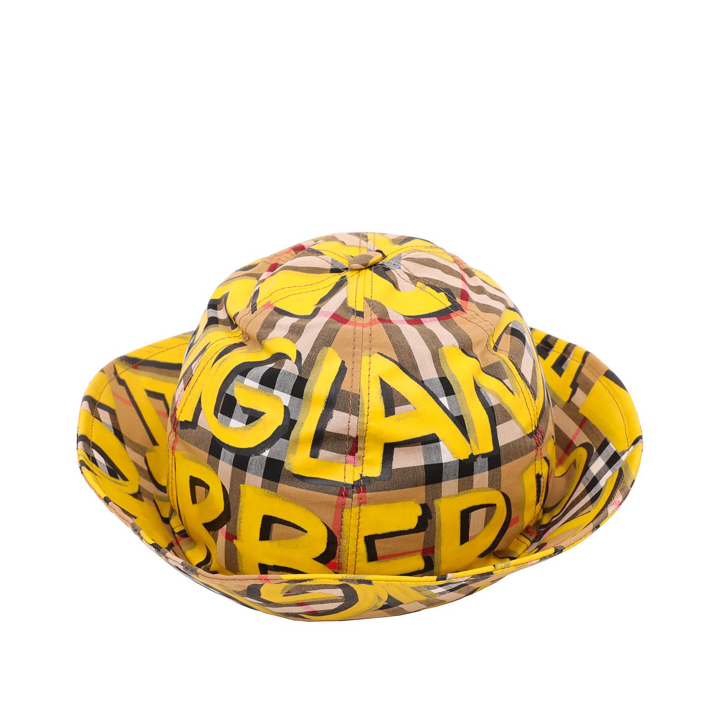 Burberry Bicolor Graffiti Logo Bucket Hat