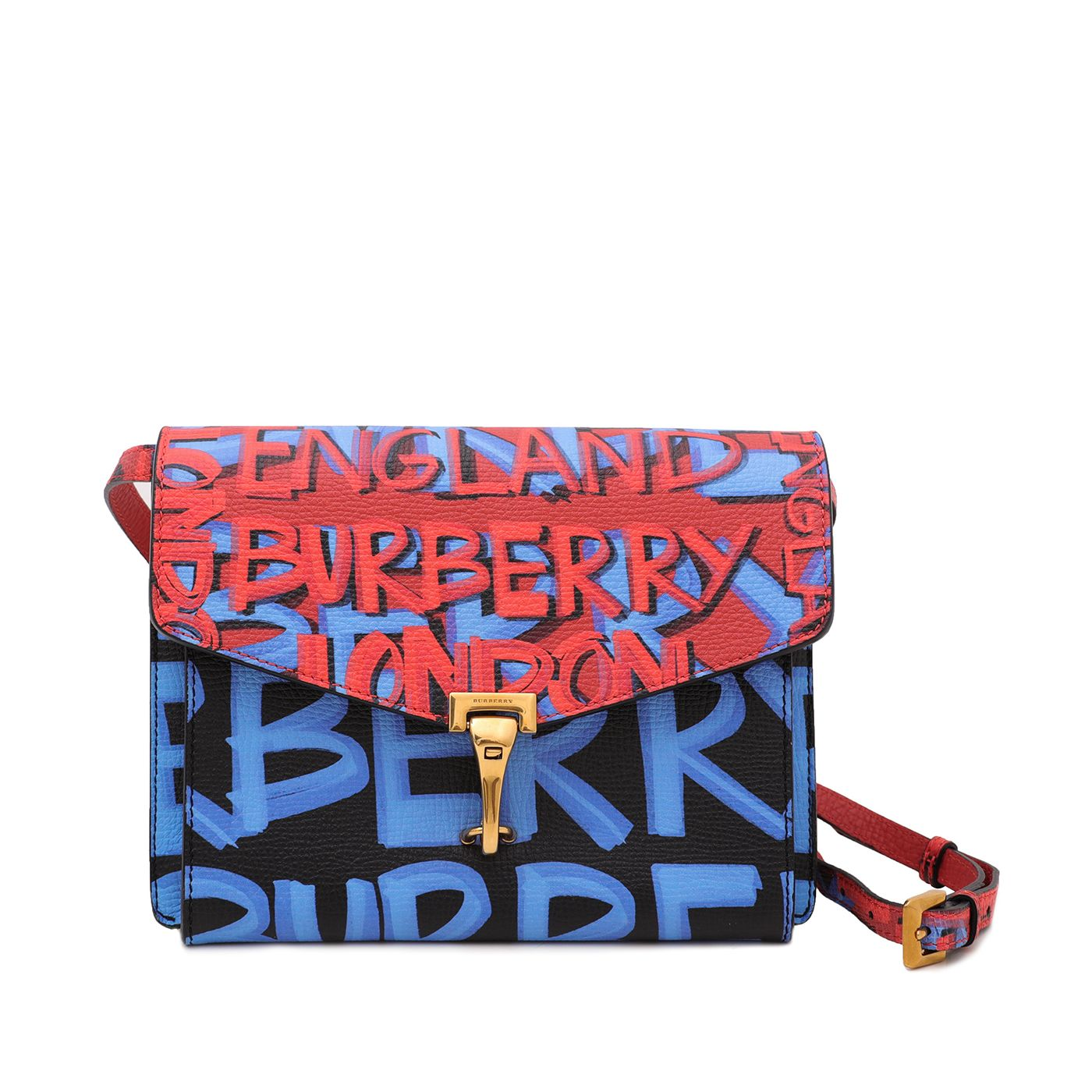 Burberry Tricolor Graffiti Print Macken Crossbody Bag