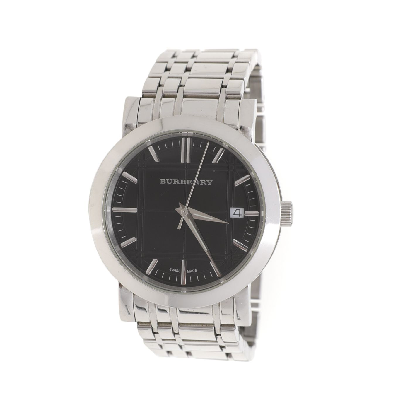 Burberry Stainless Steel Black Heritage Classic Men's Watch