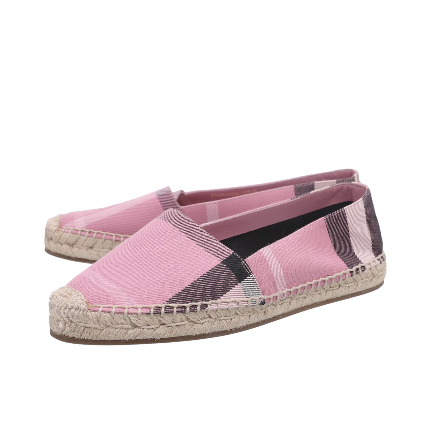 Burberry Pink House Check Espadrille 37
