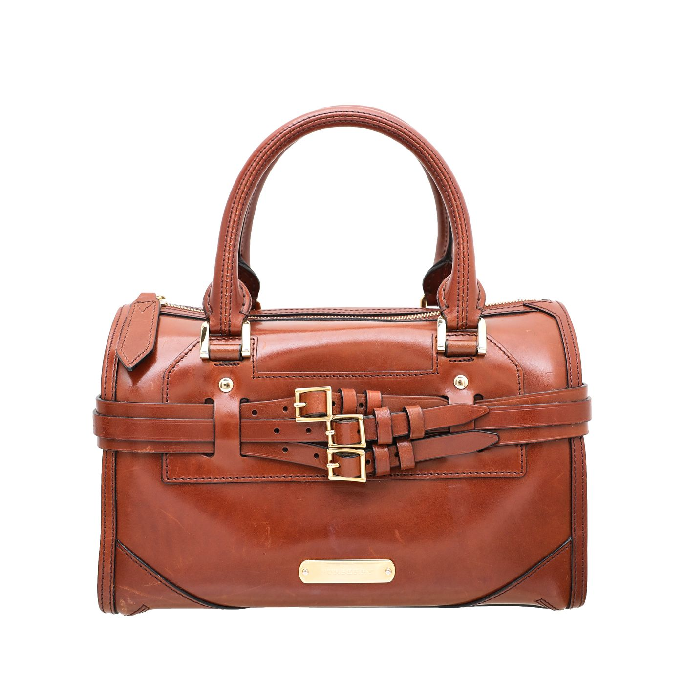 Burberry Brown Bridle Bowling Bag