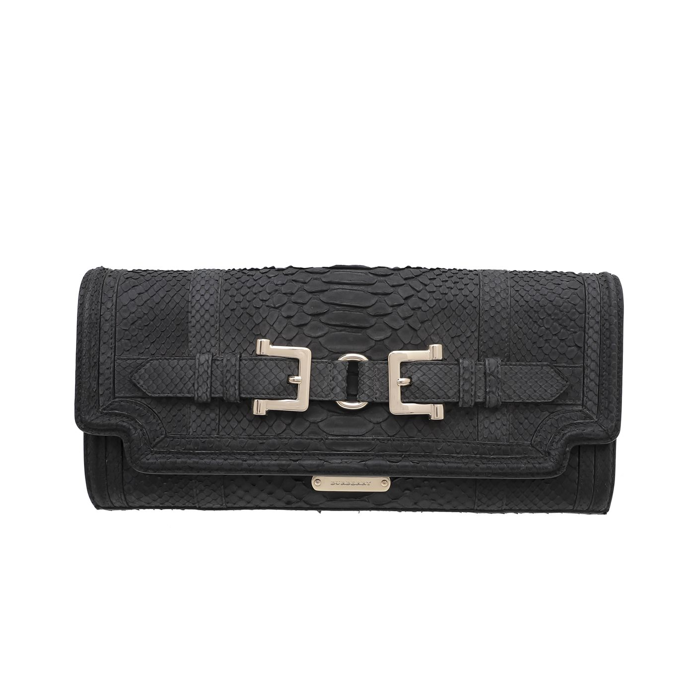 Burberry Black Python Margot Clutch