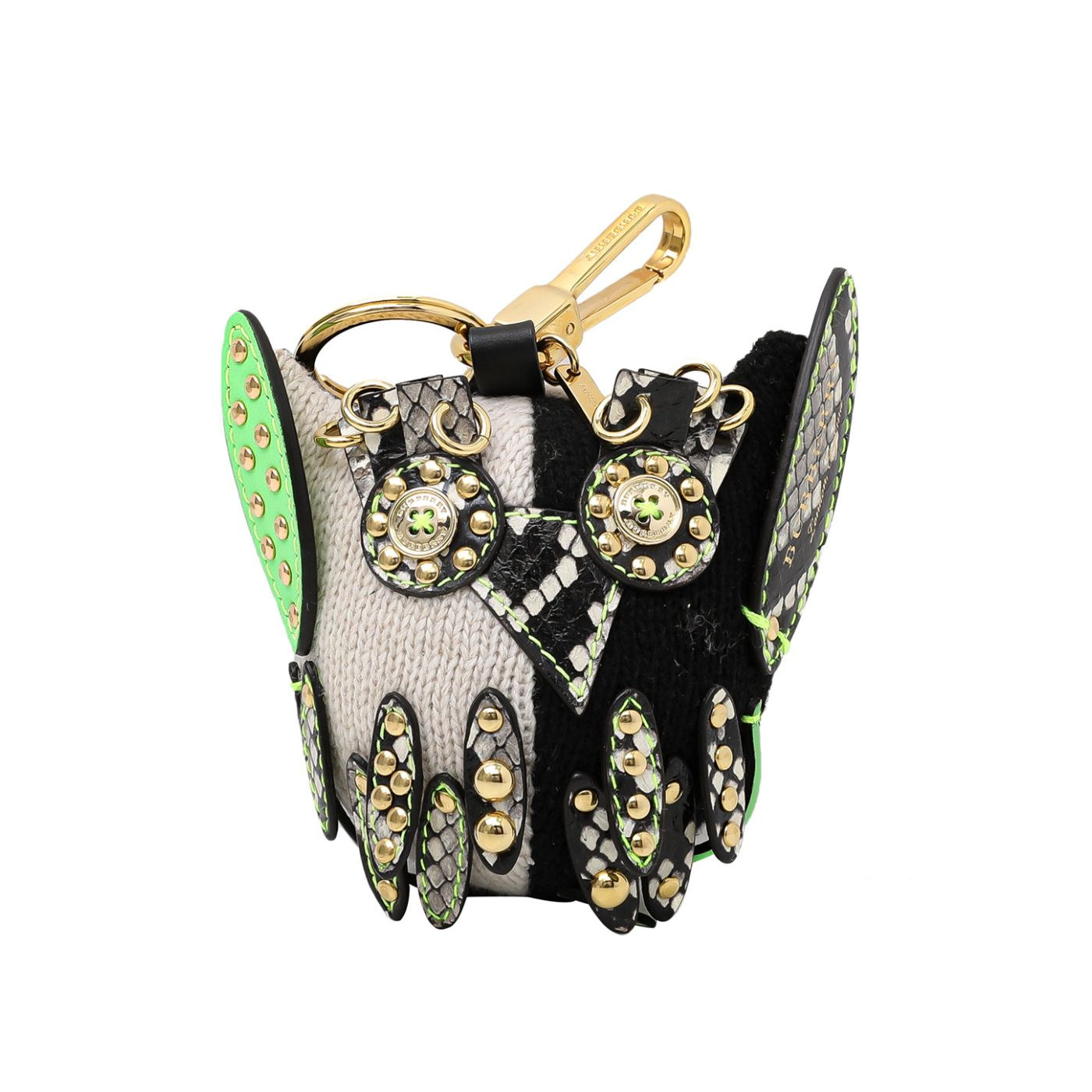 Burberry Tricolor Mavis The Owl Knit Bag Charm