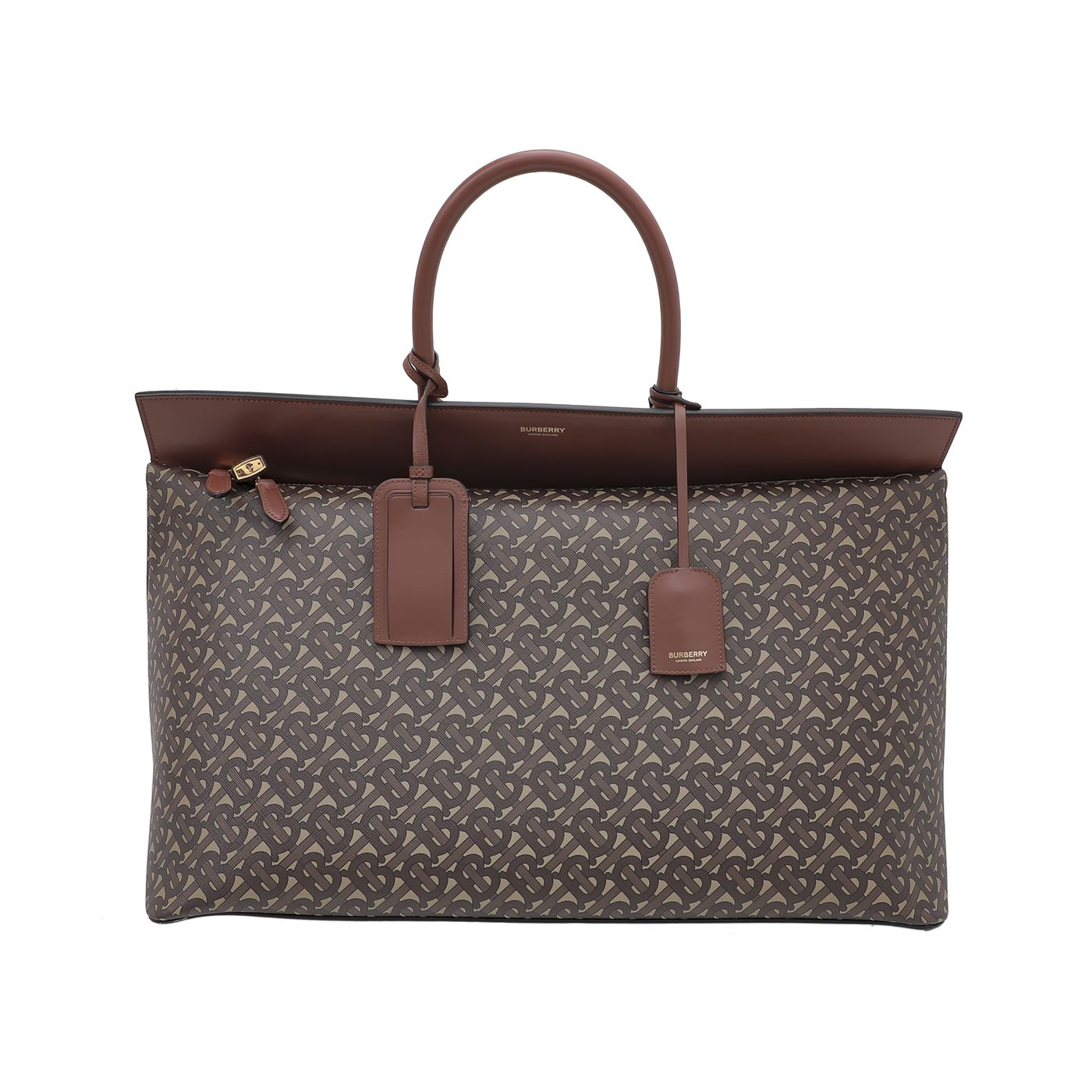 Burberry Brown Monogram Society Top Handle Bag