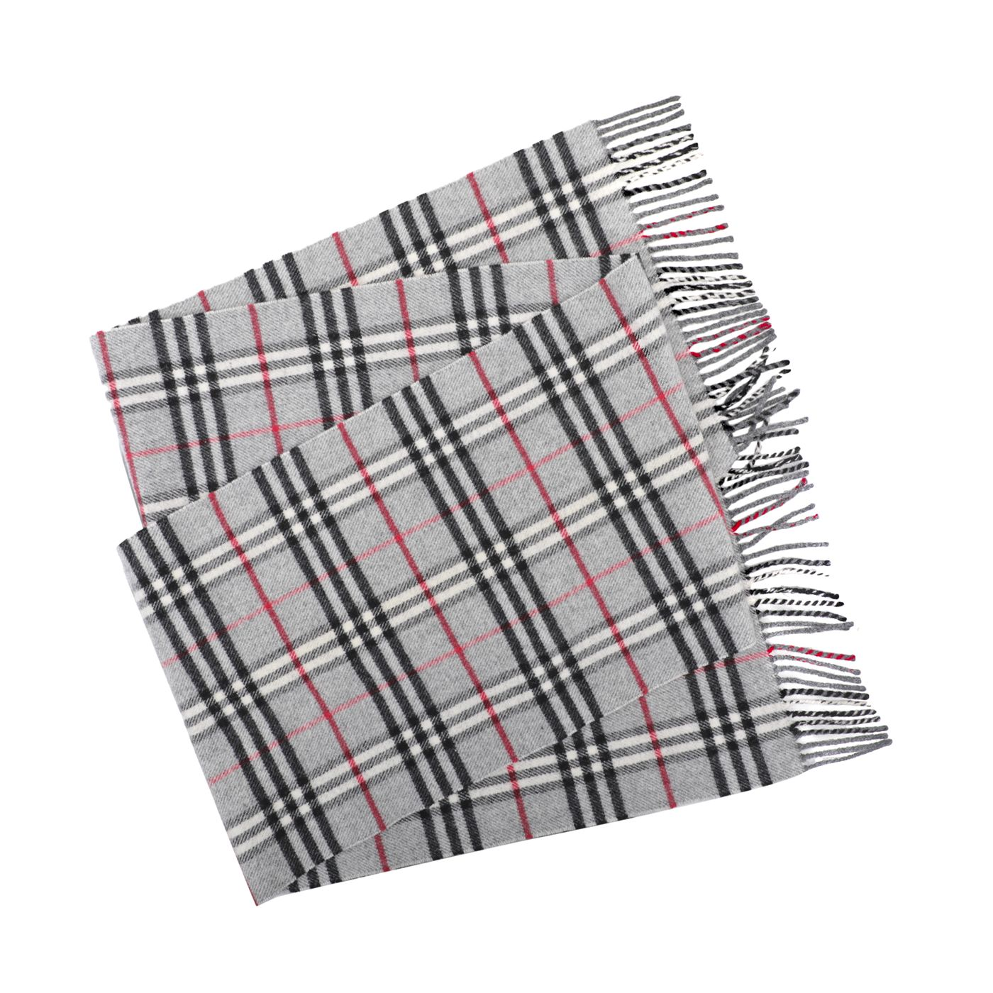 Burberry Multicolor Novacheck Fringed Wool Scarf